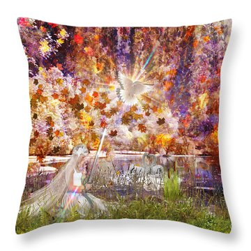 Be Still And Know Throw Pillow by Dolores Develde