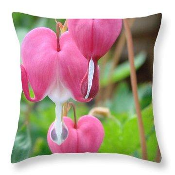 Throw Pillow featuring the photograph Be Still My Little Bleeding Heart by Margaret Bobb