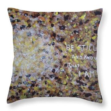 Be Still Throw Pillow by Piercarla Garusi