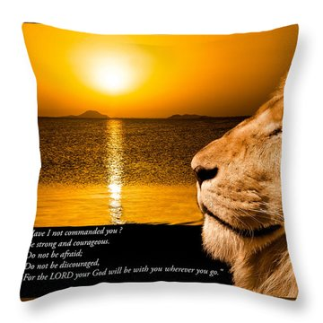 Throw Pillow featuring the photograph Be Strong And Courageous by Scott Carruthers