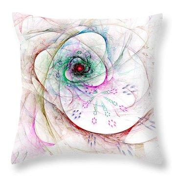 Be Strong Little Flower Throw Pillow