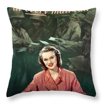 Be With Him At Every Mail Call Throw Pillow