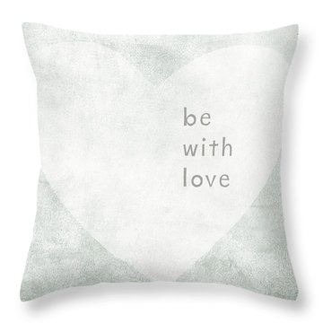Throw Pillow featuring the mixed media Be With Love - Art By Linda Woods by Linda Woods