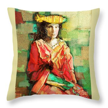 Throw Pillow featuring the painting Be You by Carrie Joy Byrnes
