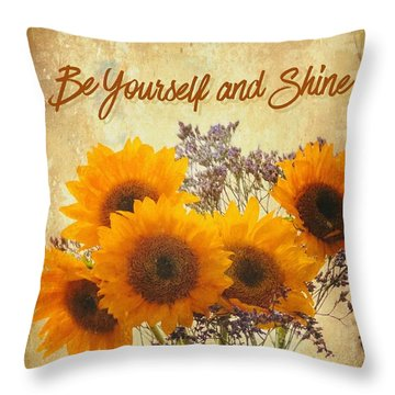 Be Yourself And Shine Throw Pillow