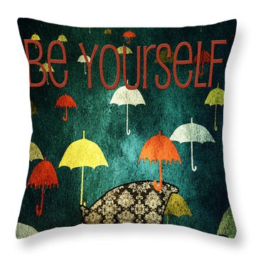 Be Yourself - Large Format Throw Pillow
