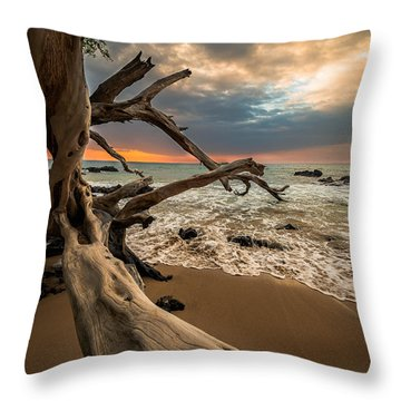 Beach 69 Throw Pillow