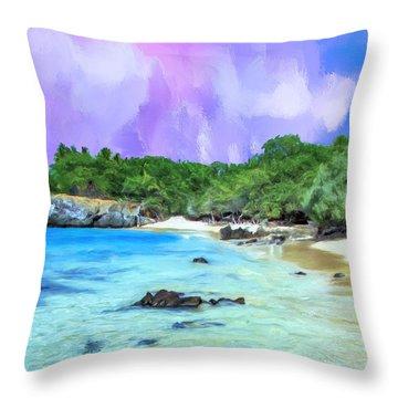 Beach 69 Big Island Throw Pillow
