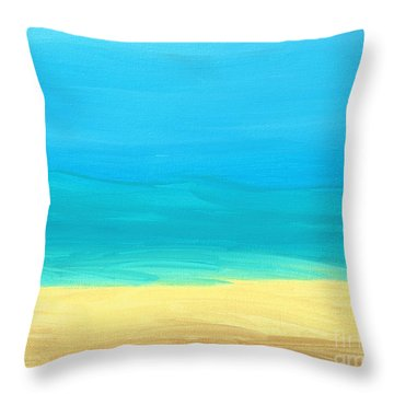 Beach Abstract Throw Pillow