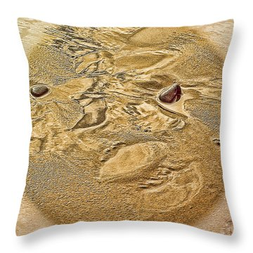 Beach Abstract Throw Pillow by Dale Stillman