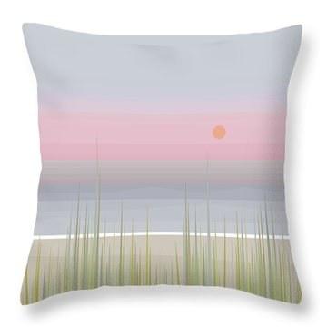 Beach Abstract - Square Throw Pillow