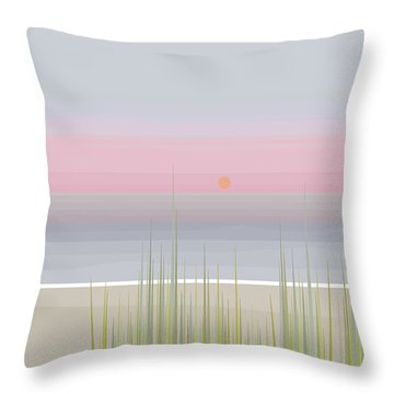Beach Abstract Throw Pillow by Val Arie