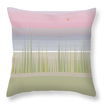 Beach Abstract - Vertical Throw Pillow