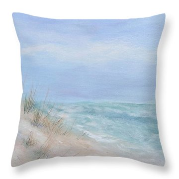 Beach Access One At Shell Island Throw Pillow
