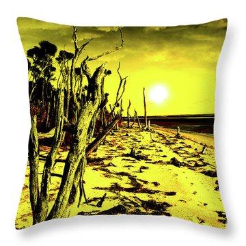 Beach Apocalypse Throw Pillow