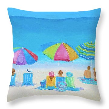 Beach Art - A Golden Day Throw Pillow