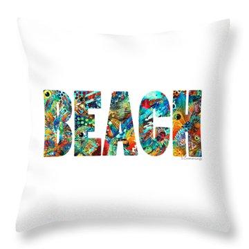 Beach Art - Beachy Keen - By Sharon Cummings Throw Pillow