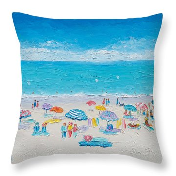 Beach Art - Fun In The Sun Throw Pillow