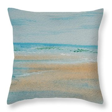 Beach At High Tide Throw Pillow