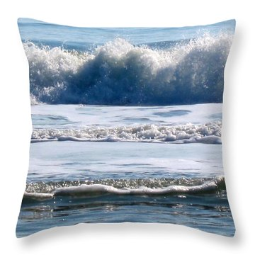 Beach At Iop Throw Pillow