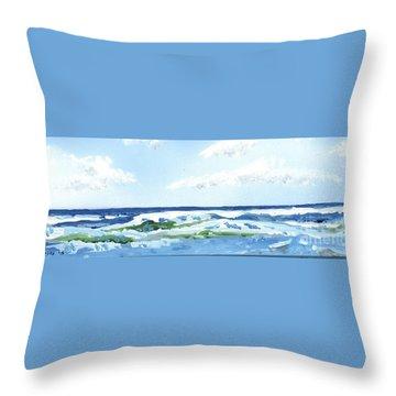 Beach At Isle Of Palms Throw Pillow