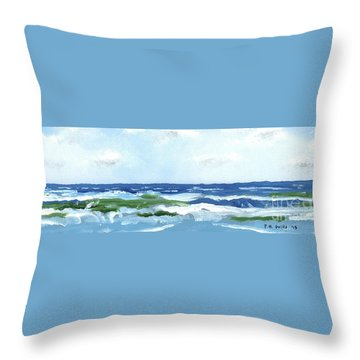 Beach At Isle Of Palms Two Throw Pillow