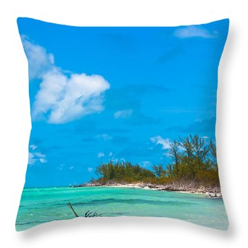 Beach At North Bimini Throw Pillow
