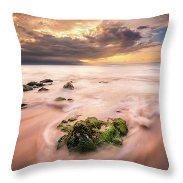 Beach At Paia Throw Pillow
