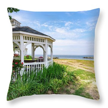Beach At Rock Hall Throw Pillow