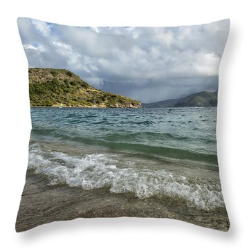 Throw Pillow featuring the photograph Beach At St. Kitts by Belinda Greb