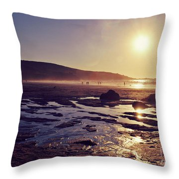 Throw Pillow featuring the photograph Beach At Sunset by Lyn Randle