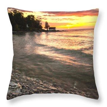 Beach Awakens Throw Pillow