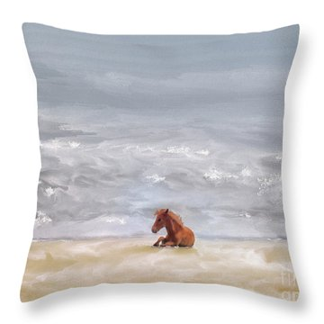 Throw Pillow featuring the photograph Beach Baby by Lois Bryan