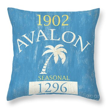 Beach Badge Avalon Throw Pillow