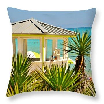 Beach Bar Throw Pillow