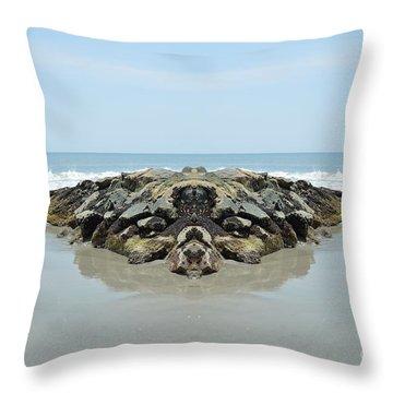 Beach Barrier Throw Pillow