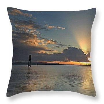 Beach Beacon Throw Pillow