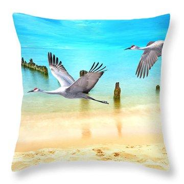 Beach Beauties Throw Pillow