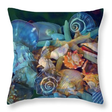 Beach Beauty 7 Throw Pillow