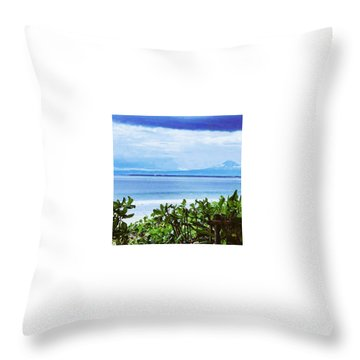 Beach Beauty Throw Pillow