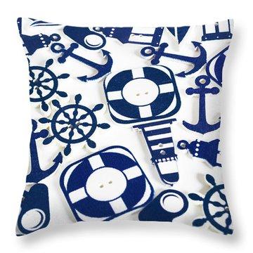 Beach Blue Background Throw Pillow