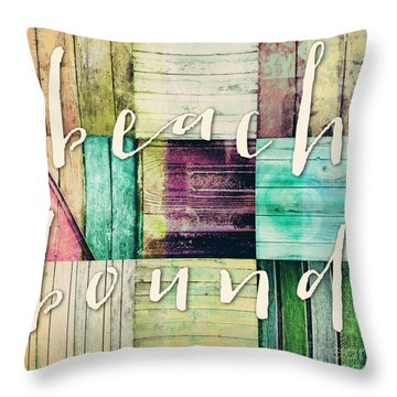 Beach Bound Throw Pillow by Mindy Sommers