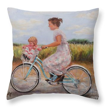 Beach Bound Throw Pillow