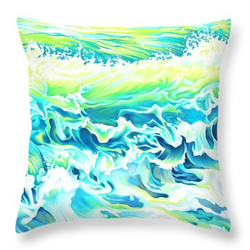 Beach Break Wave Throw Pillow