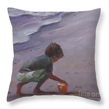 Beach Bucket Throw Pillow