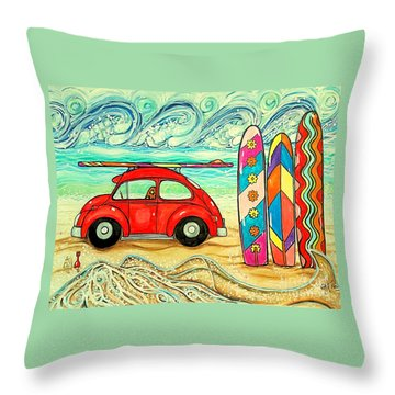 Beach Bug Throw Pillow
