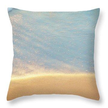 Beach Caress Throw Pillow