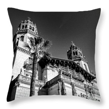 Beach House, Black And White Throw Pillow