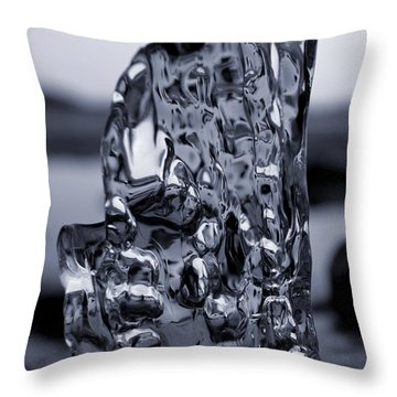 Throw Pillow featuring the photograph Beach Chair 1 Bw by Sami Tiainen