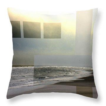 Beach Collage 2 Throw Pillow by Steve Karol